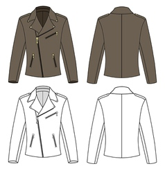 Jacket for man vector