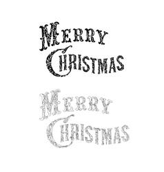 Merry Christmas congratulation text vector image vector image