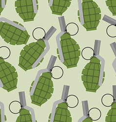 Green grenade seamless pattern Background military vector image vector image