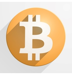 Icon of financial currency Bitcoin vector image