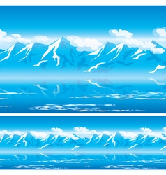 mountains in the sun vector image vector image