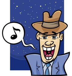 singing man cartoon vector image vector image