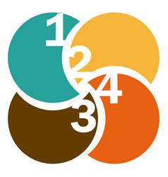 colorful circular figures with numeration vector image vector image