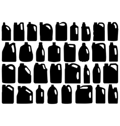 Set Of Different Canisters vector image vector image