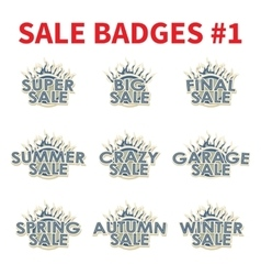 Set of Huge sale badges vector image vector image