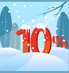 a discount figures in the snow vector image