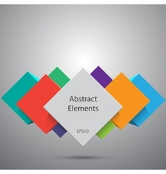 Abstract cubes background EPS10 vector image