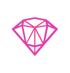Abstract geometric fugure of bright pink diamond vector