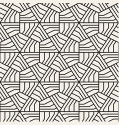 Abstract geometric pattern with stripes vector