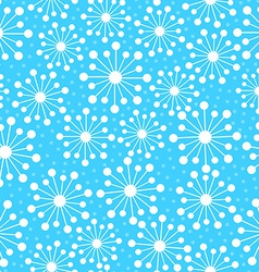 Abstract snowflakes in a seamless pattern vector
