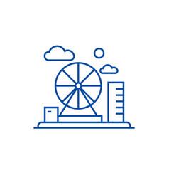 Adventure park line icon concept adventure park vector