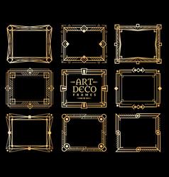 art deco frames gold gatsdeco frame border vector image