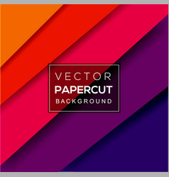 background paper cut vector image