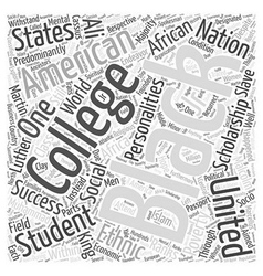 Black college scholarship student word cloud vector