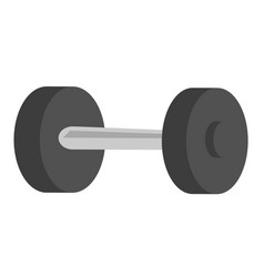Black metal dumbbell cartoon vector
