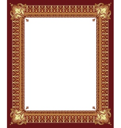 Border gold vector image vector image