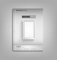 brochures book or flyer with empty frame on the vector image