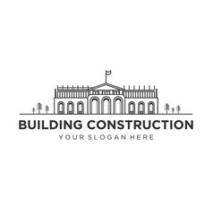 buildings construction logo designs vector image