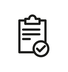 Checklist icon one set web modern clipboard l vector