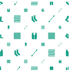Cotton icons pattern seamless white background vector