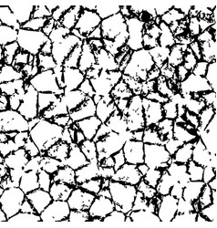 Cracked texture of wall or earth vector