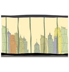 Creative Cityscape vector image