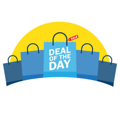 deal of the day shopping bag vector image