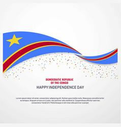 democratic republic of the congo happy vector image