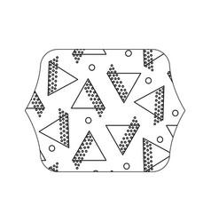 Edge quadrate with geometric style figures vector