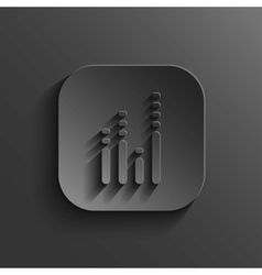 Equalizer icon - black app button vector