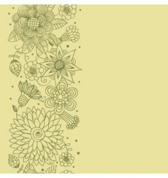Floral seamless patter vector