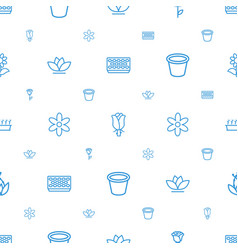 flower icons pattern seamless white background vector image