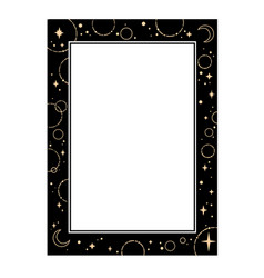 Frame design element with gold stars vector