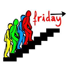 friday sign vector image