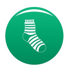 Fuzzy sock icon green vector