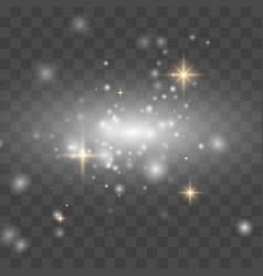 glow light effect dust vector image