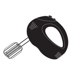 hand mixer black icon kitchen appliance vector image