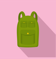 hiking backpack icon flat style vector image