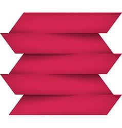 Infographics pink paper design vector