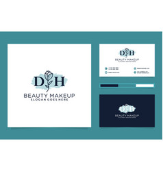 Initial dh feminine logo collections and business vector