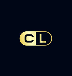 initial letter cl logo template design vector image