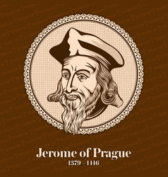 Jerome of prague was a czech scholastic vector