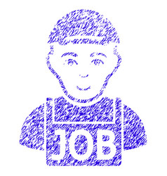 jobless icon grunge watermark vector image