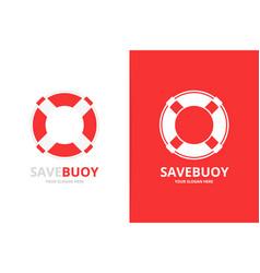 Lifebuoy logo combination unique life belt vector