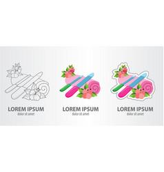 logos nail file contour logo stroke logo vector image