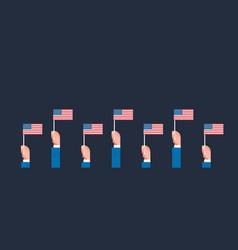 memorial day usa greeting card wallpaper hands vector image