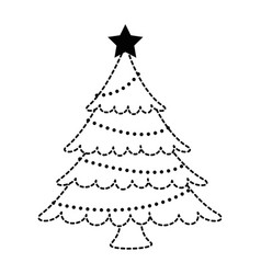 merry christmas pine tree vector image