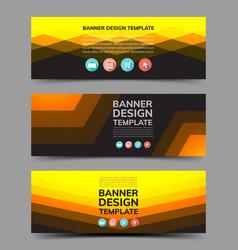 Multipurpose layout banner design 3 vector