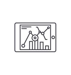 online statistics line icon concept online vector image