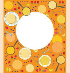 Pancakes rectangle frame vector